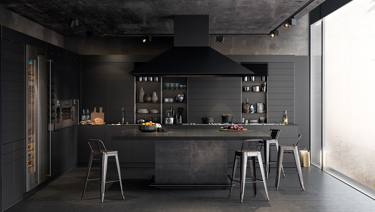Types of Luxury Dark Kitchen Designs Completed With Modern and ...