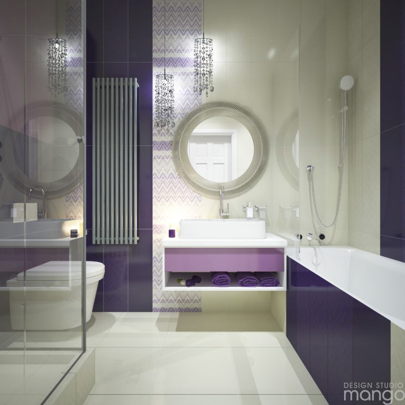 The best ideas to decorate small bathroom designs which for Simple modern bathroom designs