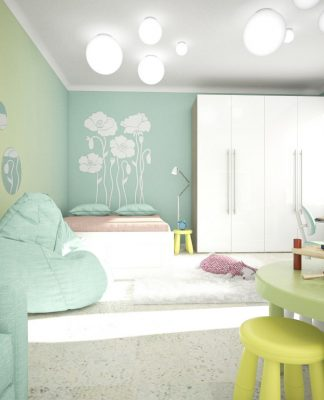 trendy girls room design