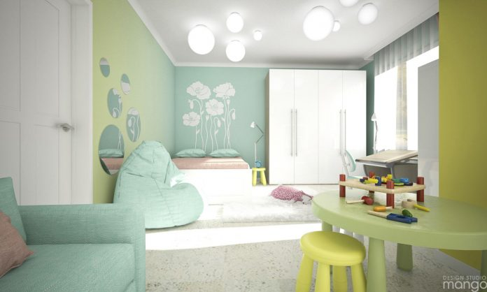 trendy girls room design