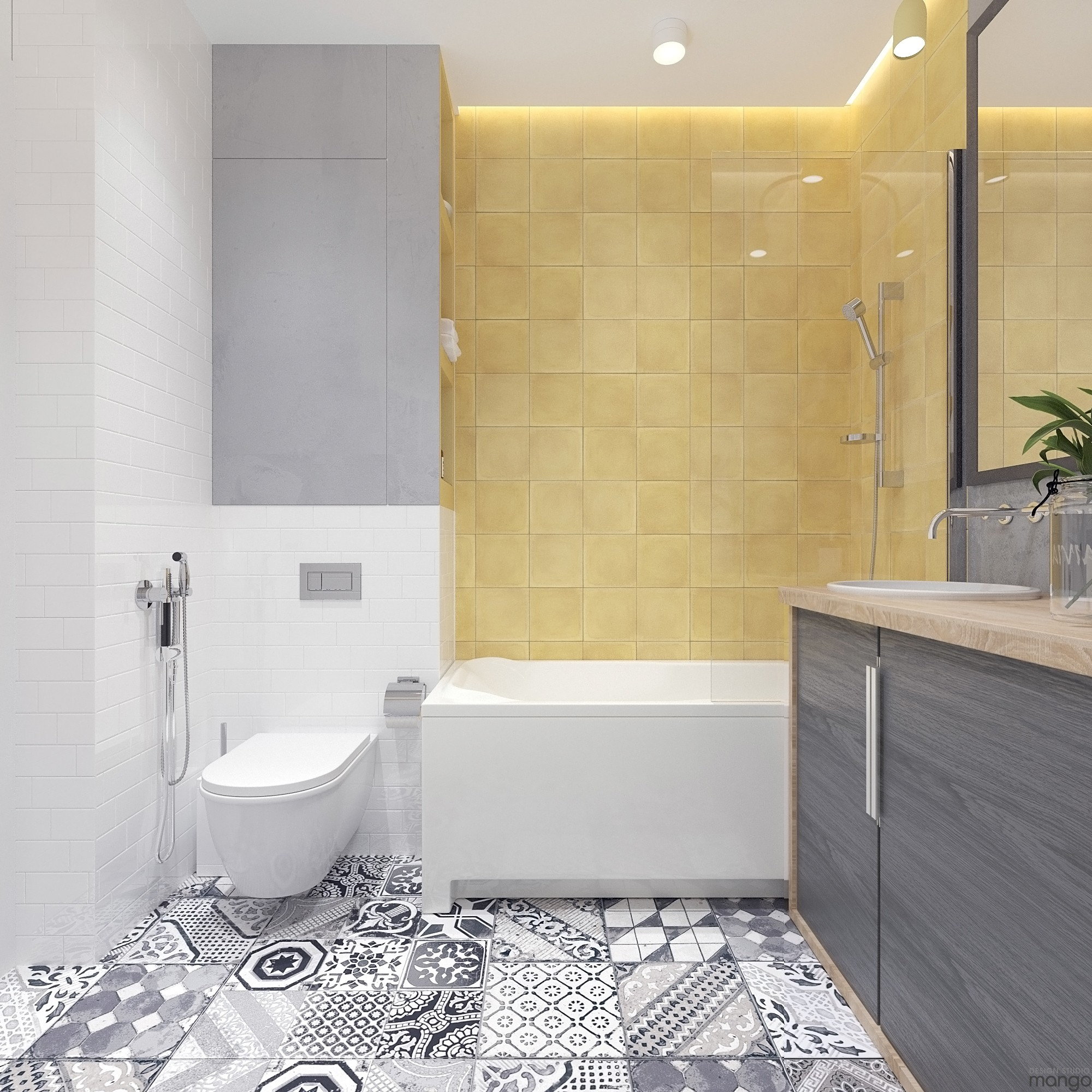 Modern small bathroom designs combined with variety of for Small bathroom looks