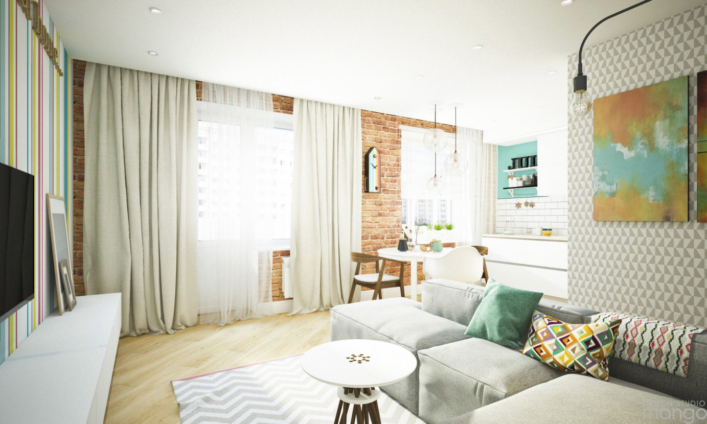 white small apartment design