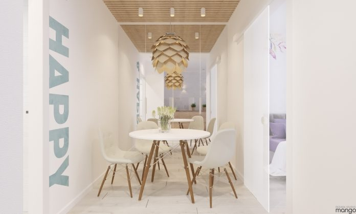 minimalist small dining room