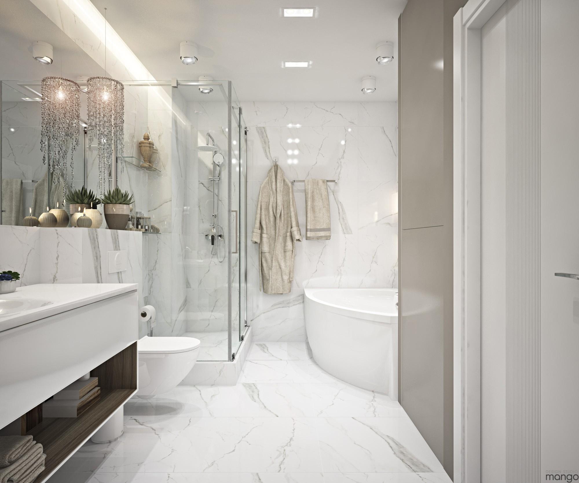 spacious bathroom design