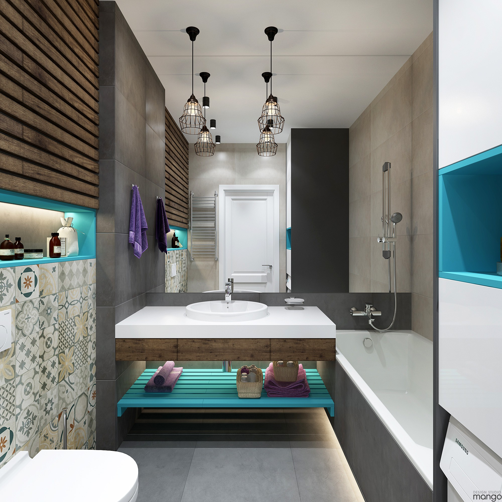 Modern small bathroom designs combined with variety of for Bathroom decor designs