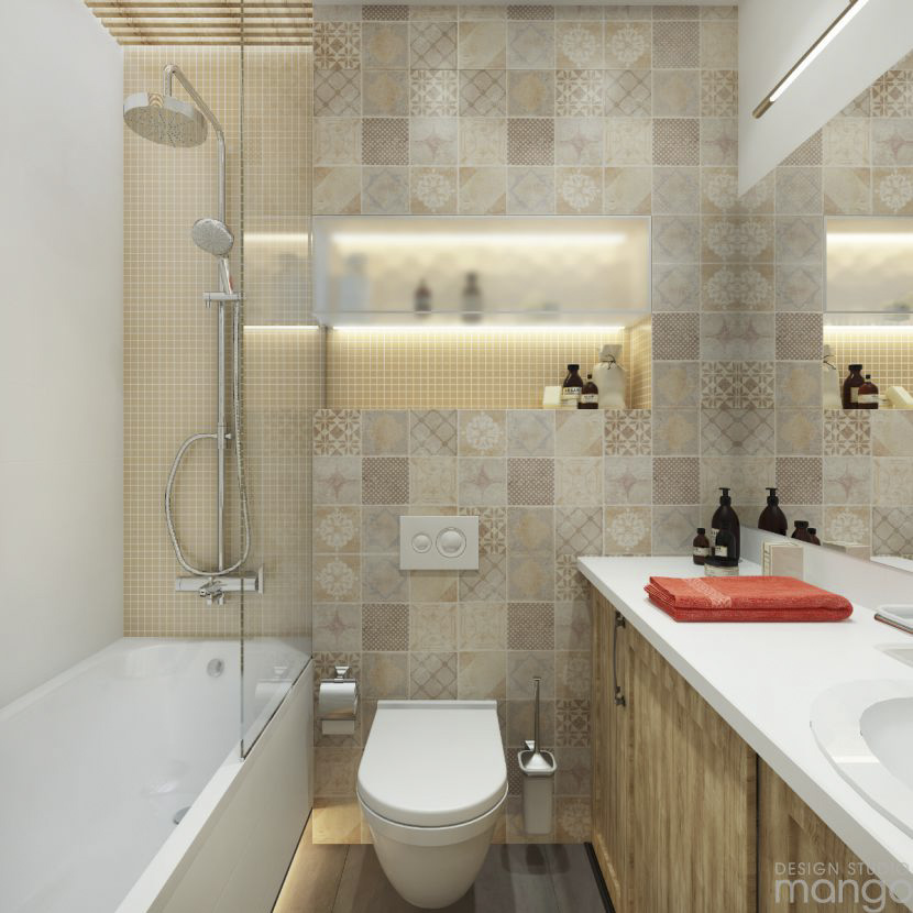 Modern small bathroom designs combined with variety of for 3 way bathroom designs