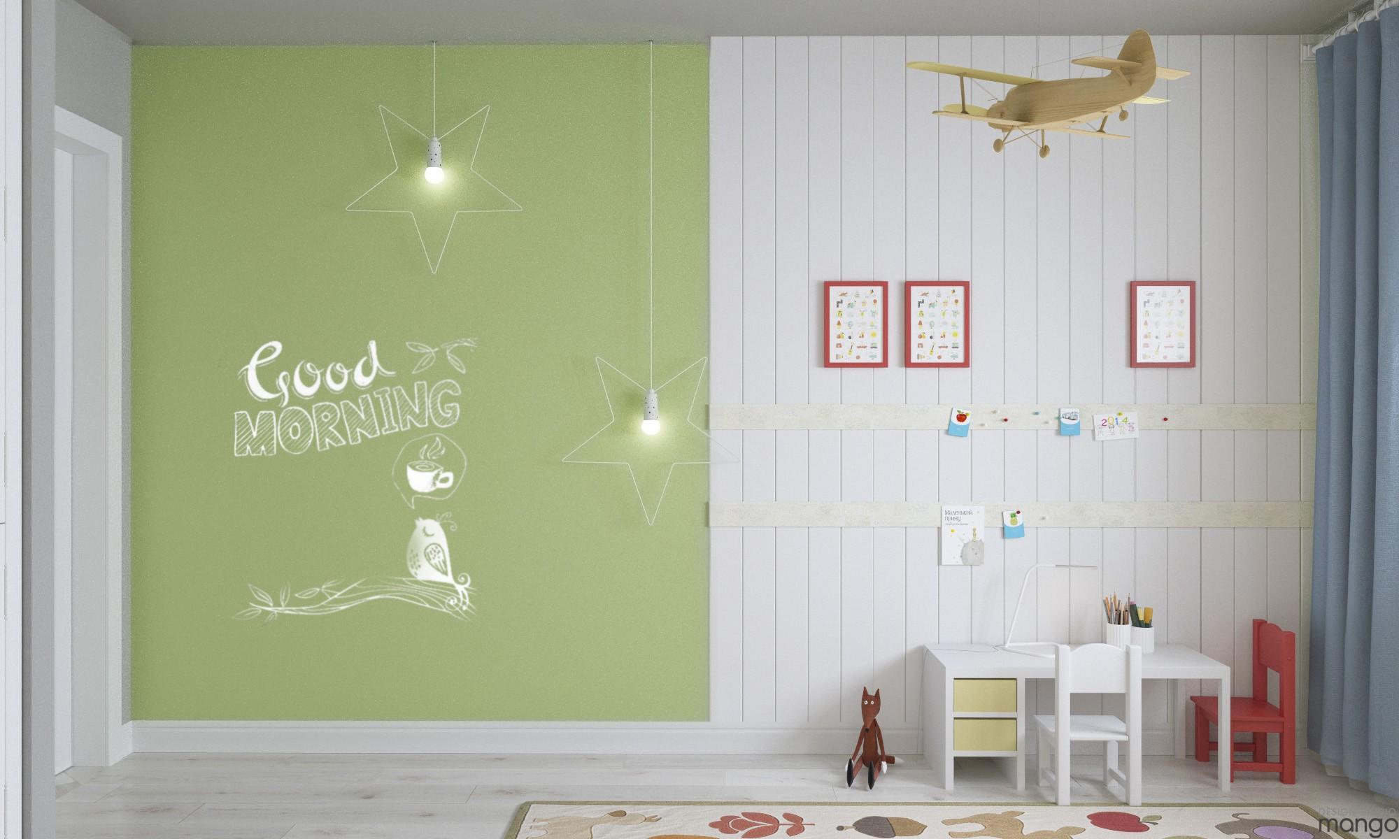 green wall decor