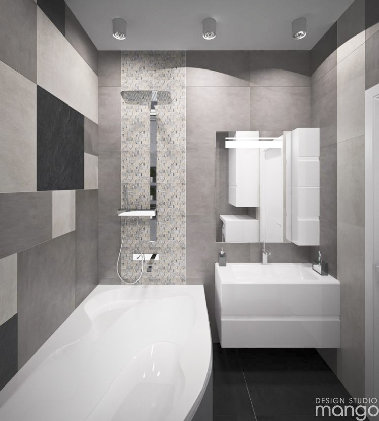 small gray bathroom design