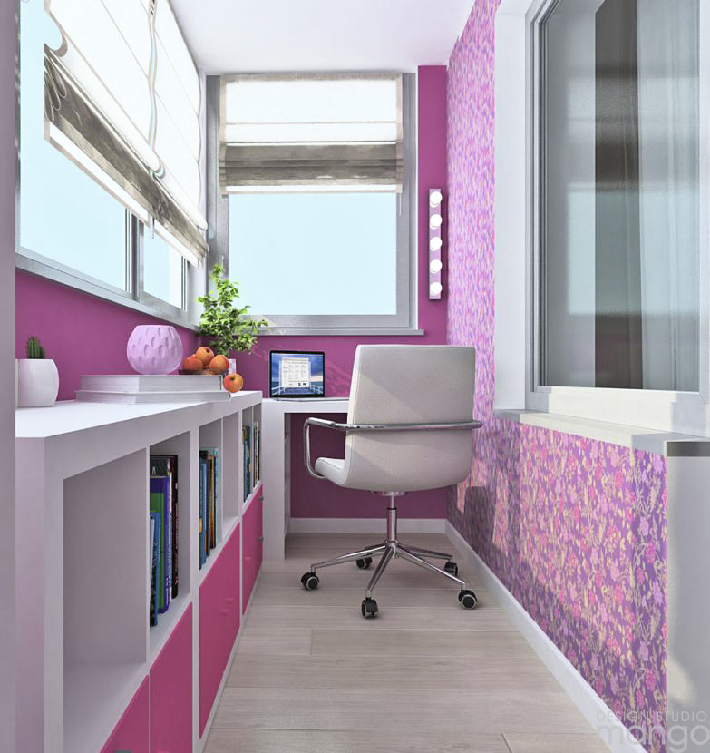 pink workspace design ideas