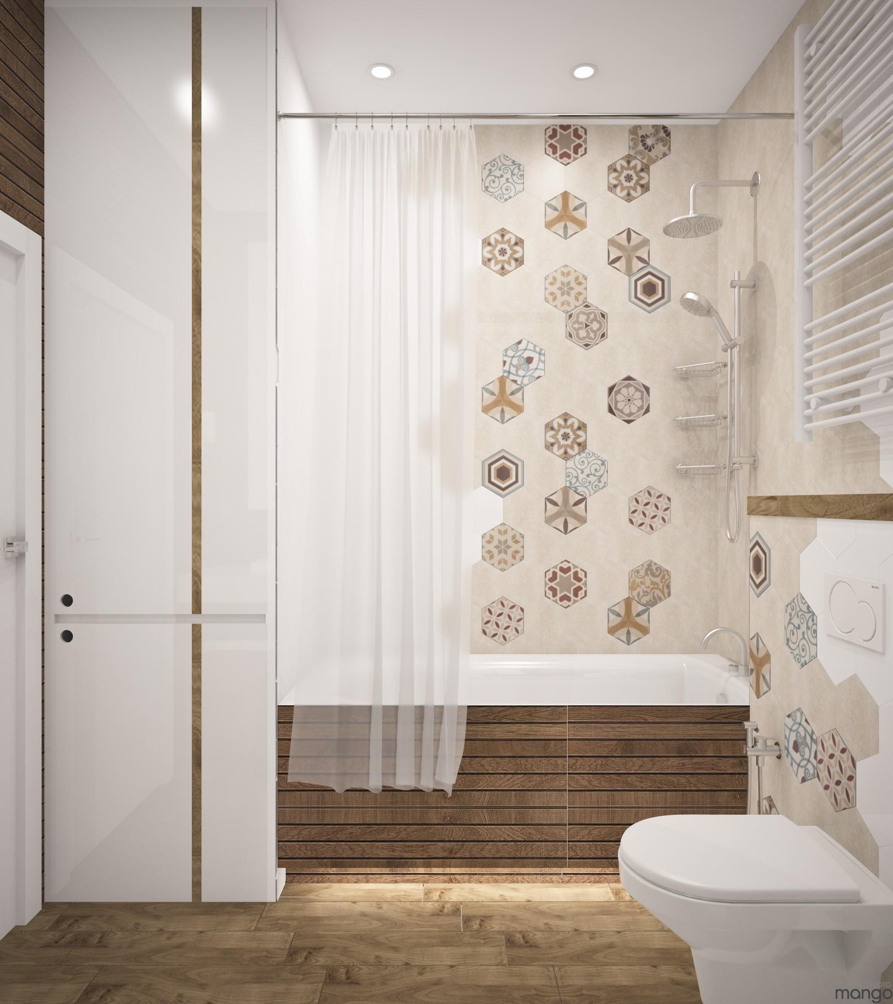 modern tile bathroom backsplash