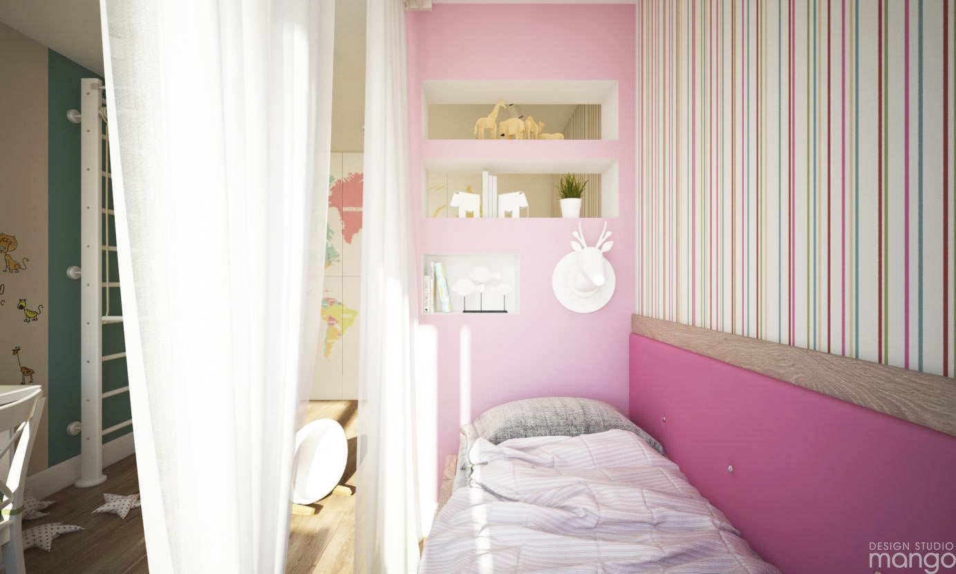 pink color bedroom design