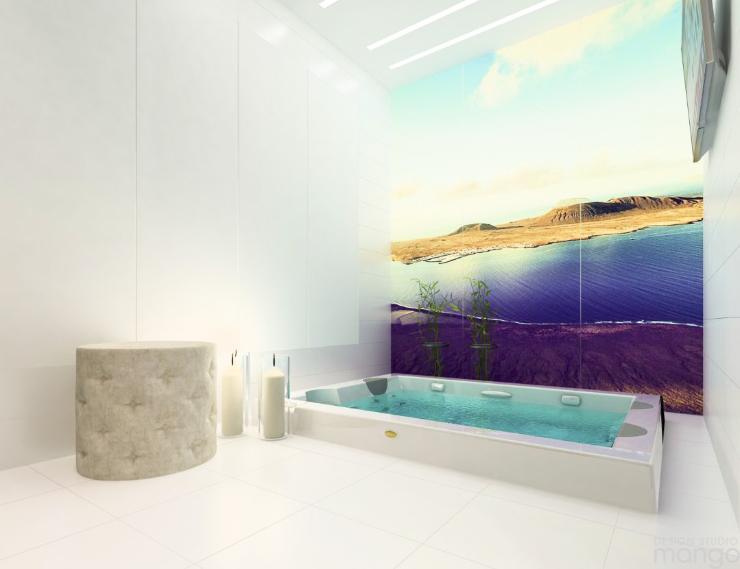 colorful bathroom backsplash decor