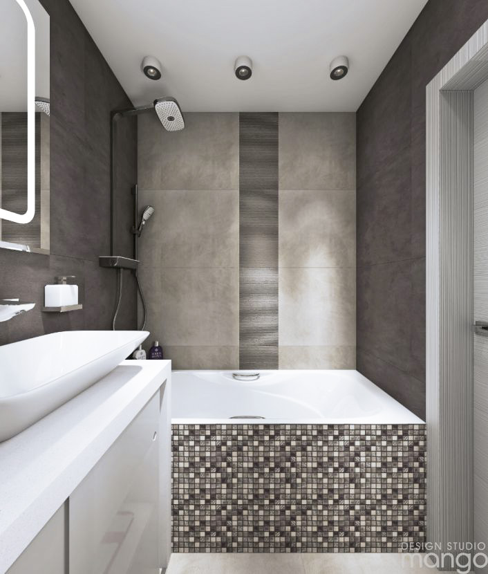 gray small bathroom design