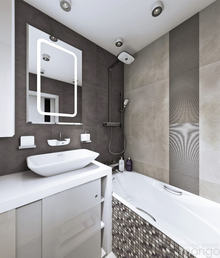 small gray bathroom decor