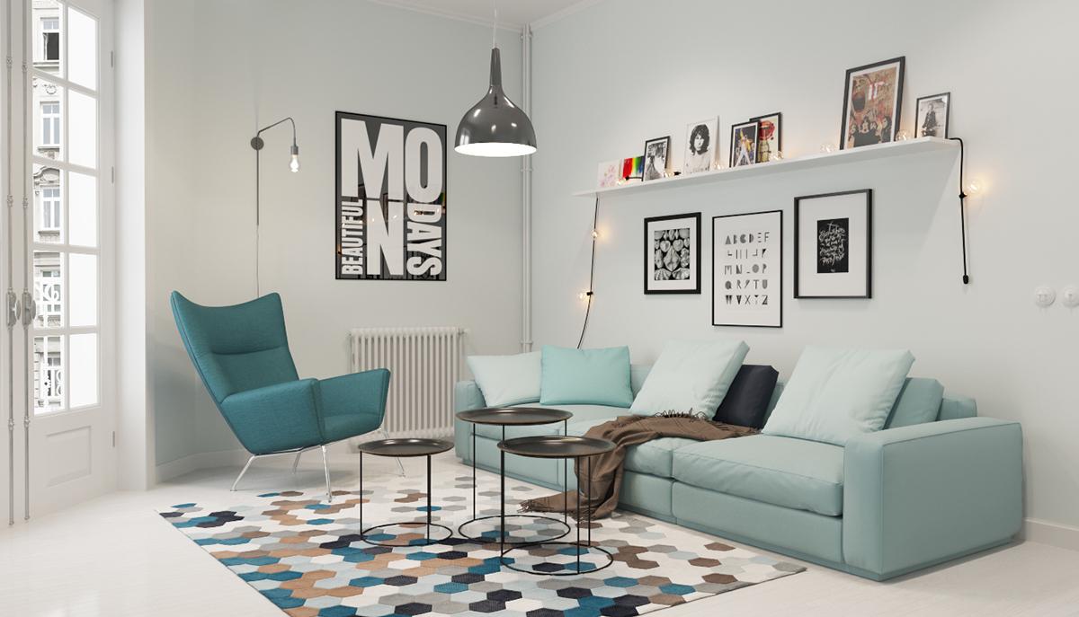 simple and minimalist living room
