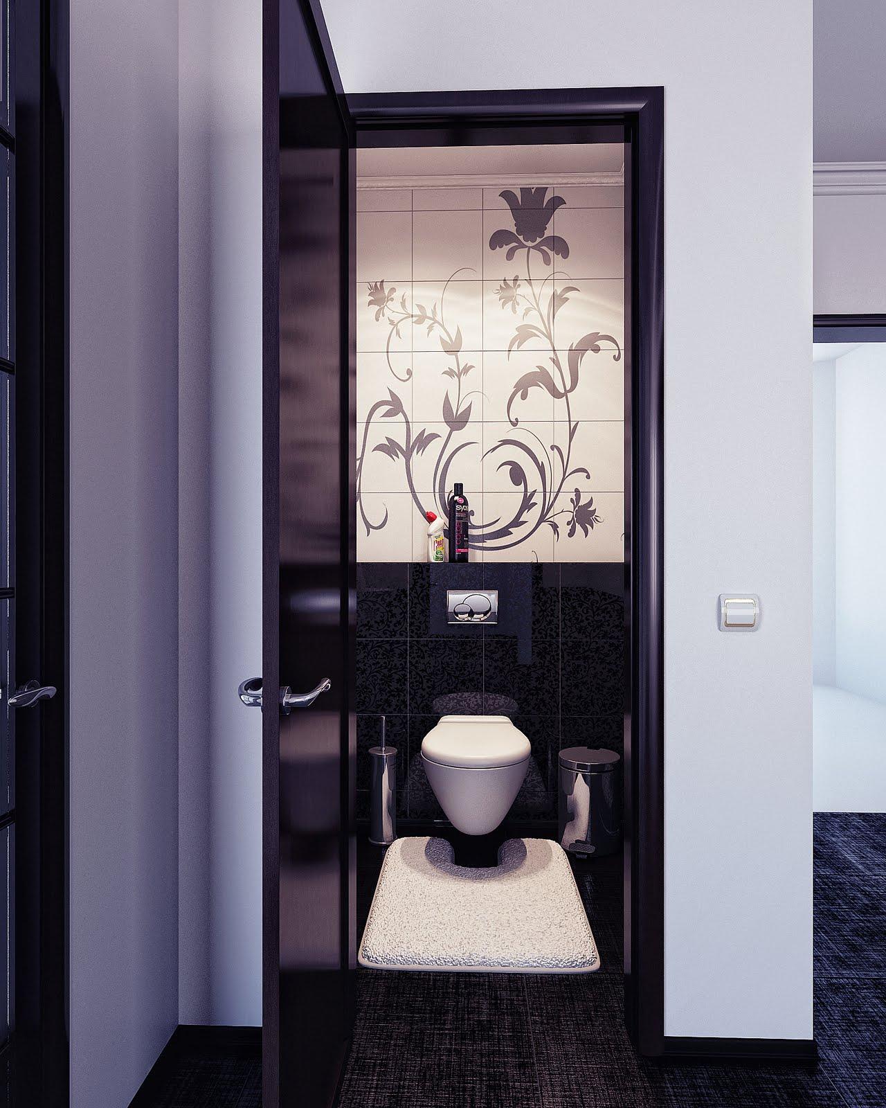 masculine white bathroom design