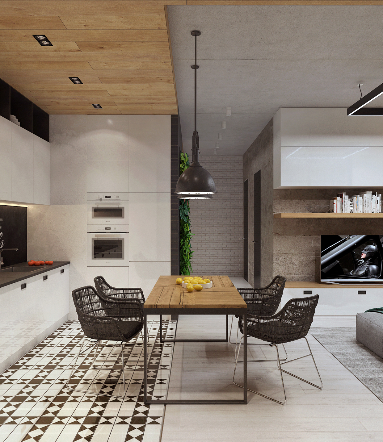 Simple Dining Room Design: Brilliant Way To Arrange A Small Apartment Design Using