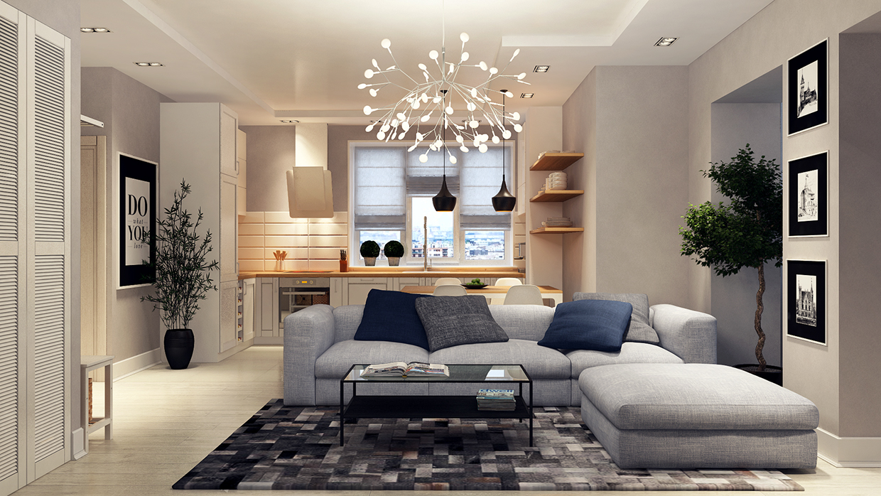 modern lighting apartment design