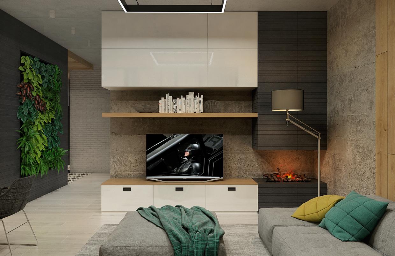 minimalist open plan living room