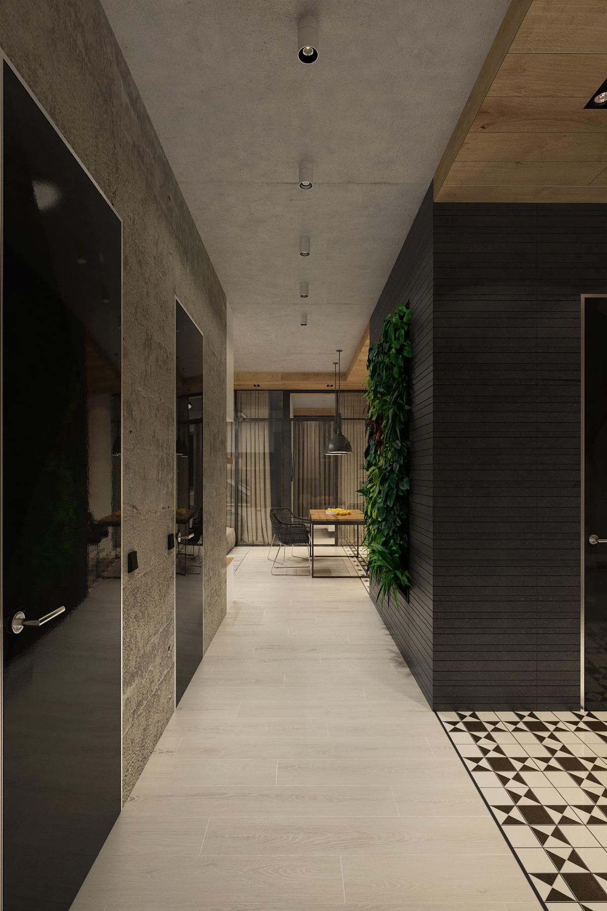 plant decoration for apartment design