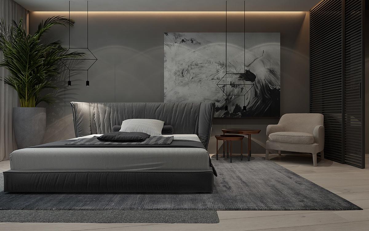 luxury gray bedroom design