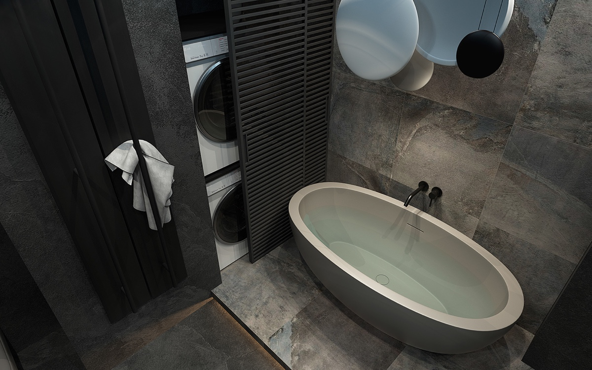 modern gray bathroom design