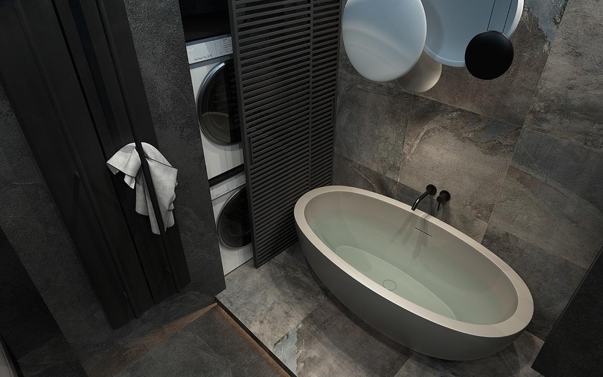modern gray bathroom design