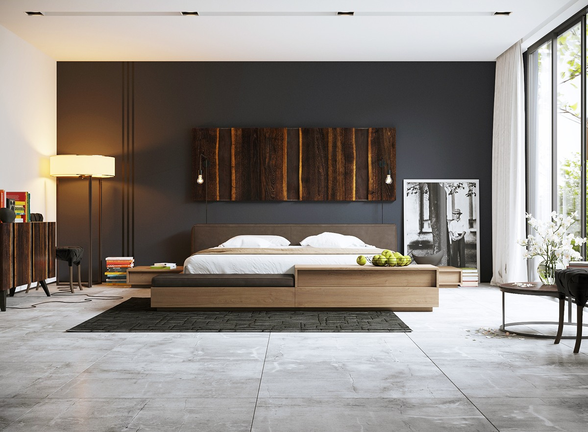 Gorgeous Dark Bedroom Designs With Minimalist and Playful ...