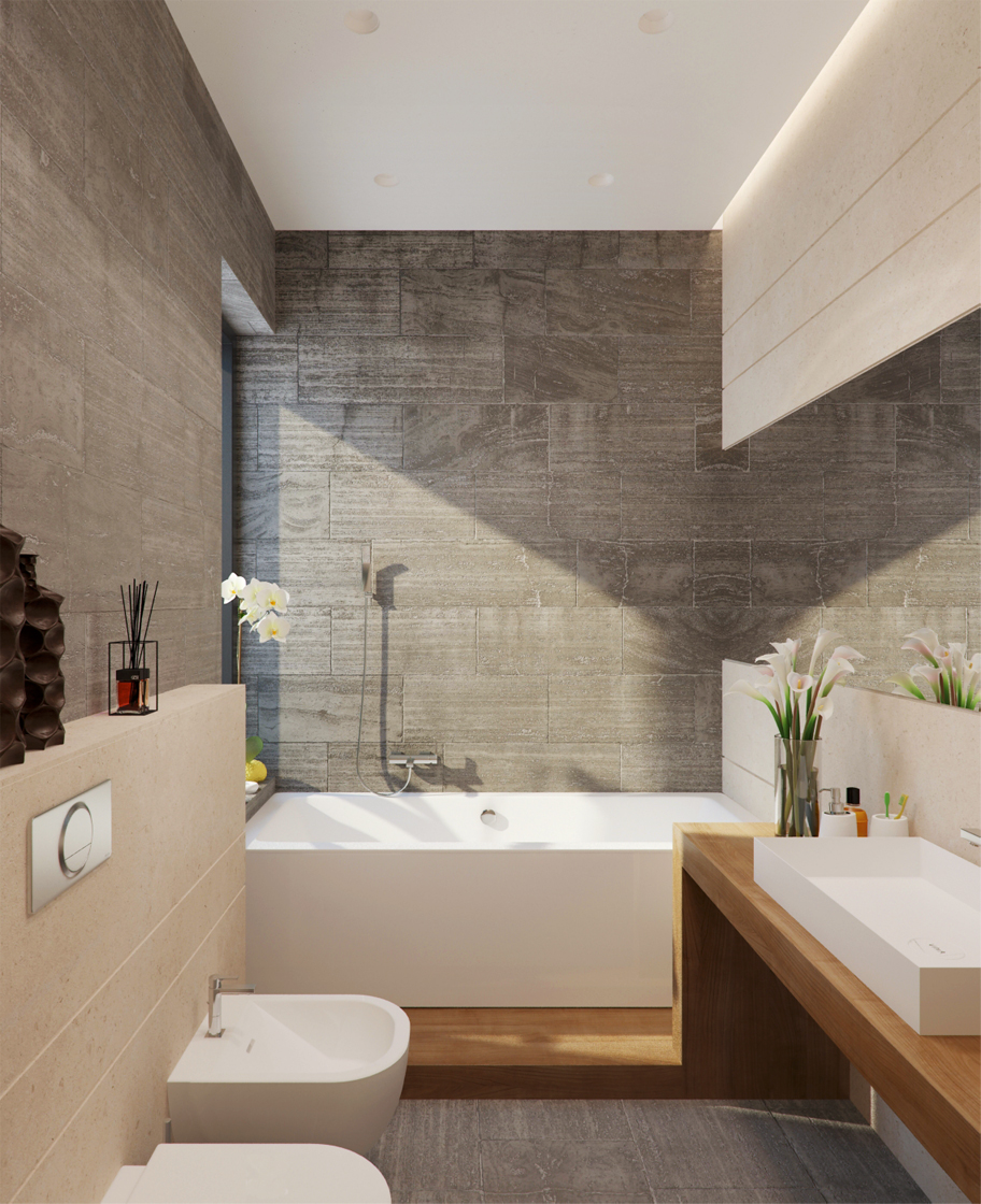 minimalist gray bathroom decor