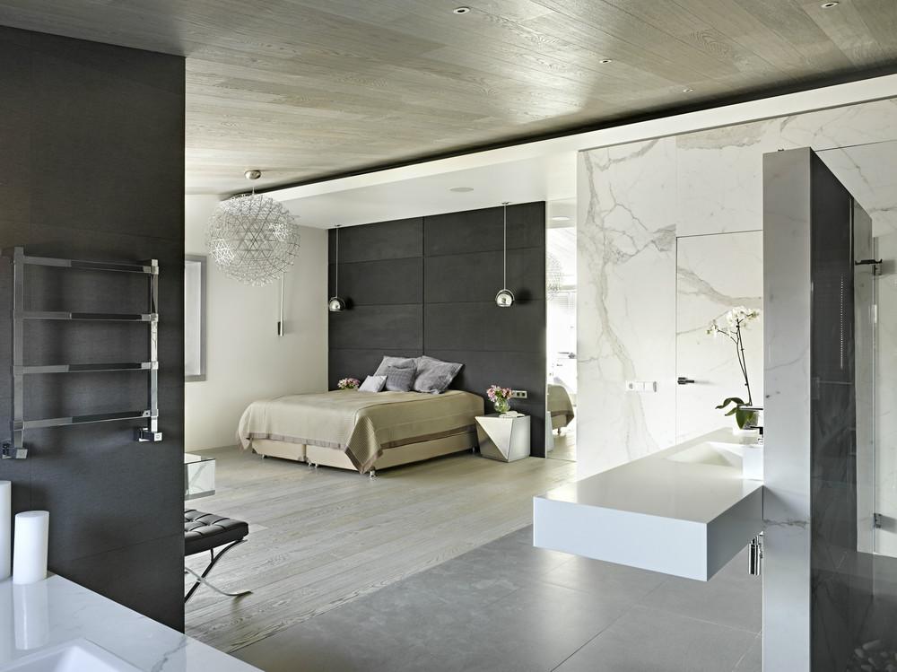 open plan bedroom design