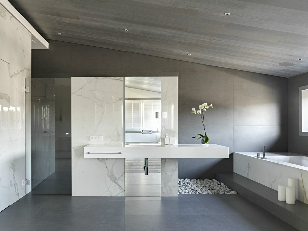 modern gray bathroom decor