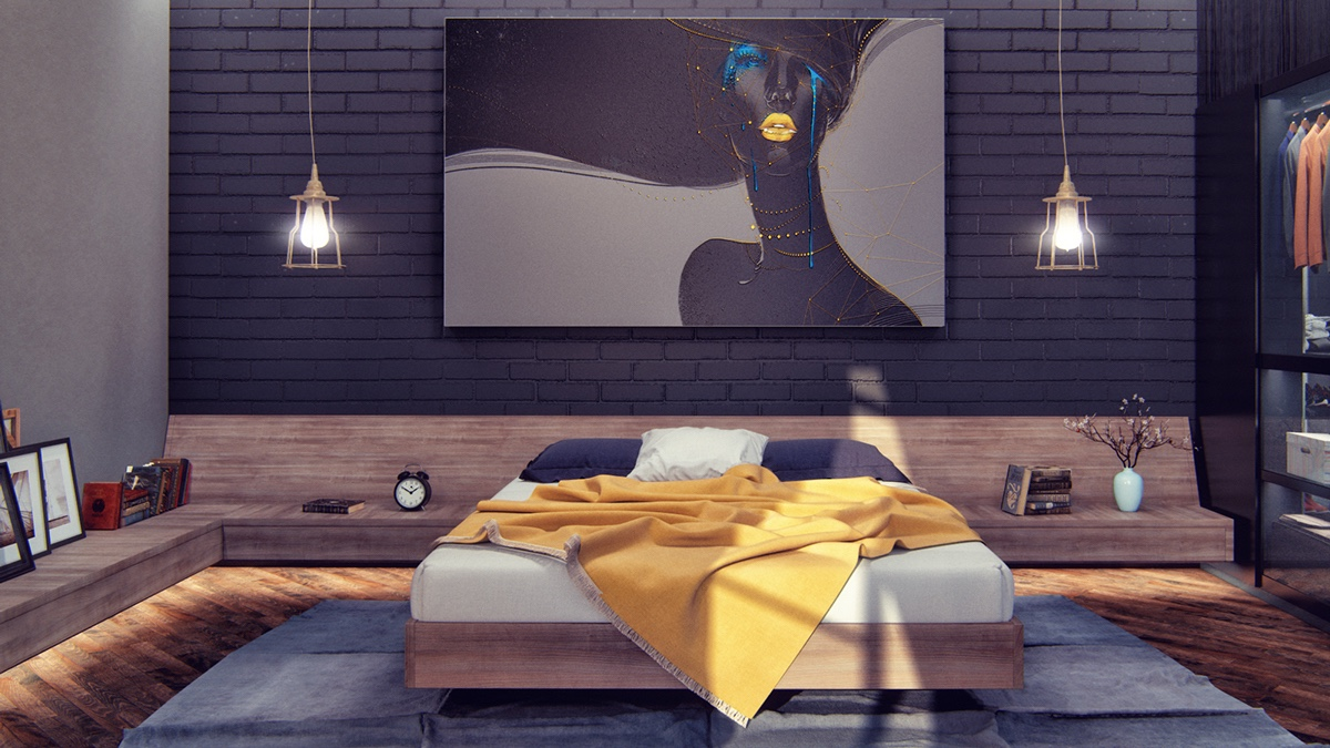 gorgeous dark bedroom decor