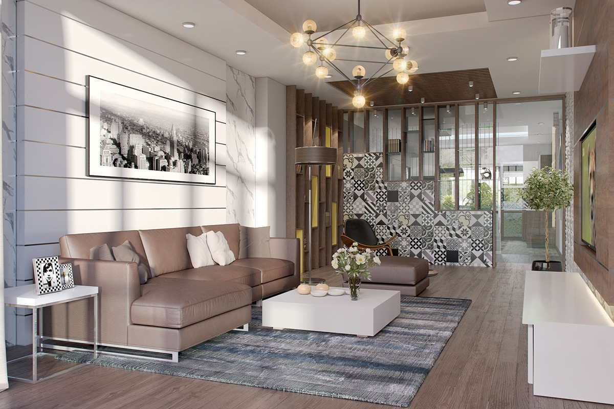 awesome white living room