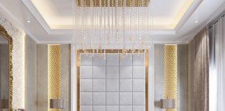 luxury bedroom wall texture design