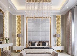 luxury bedroom wall texture design