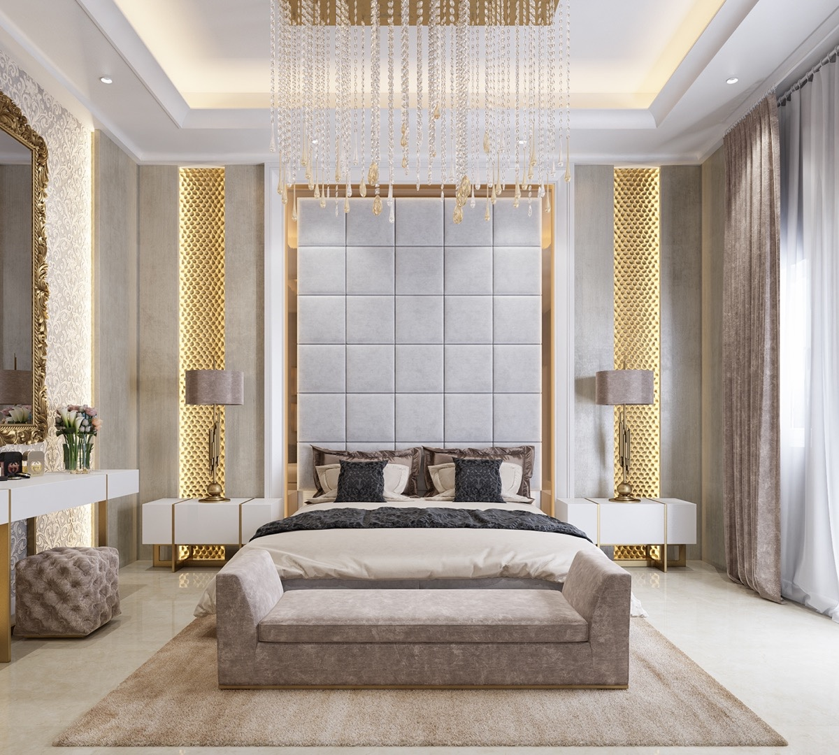 3 kind of elegant bedroom design ideas includes a for Bedroom mural designs
