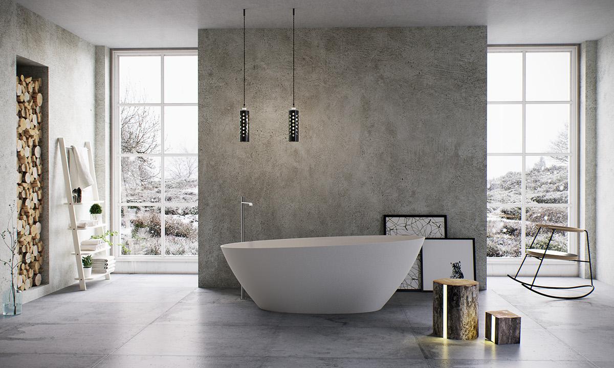 modern bathing room design