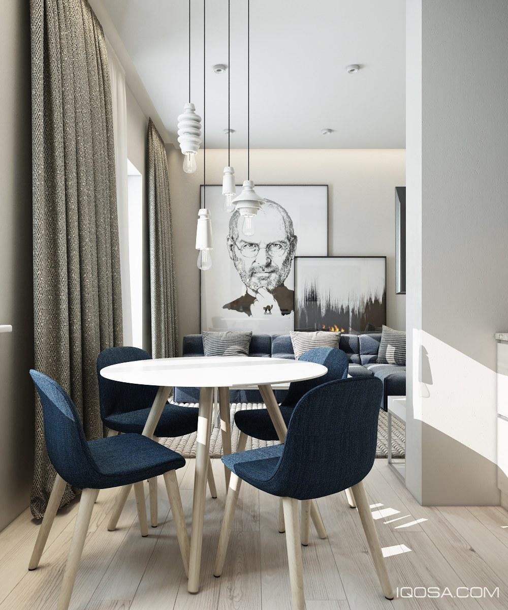 small modern dining room
