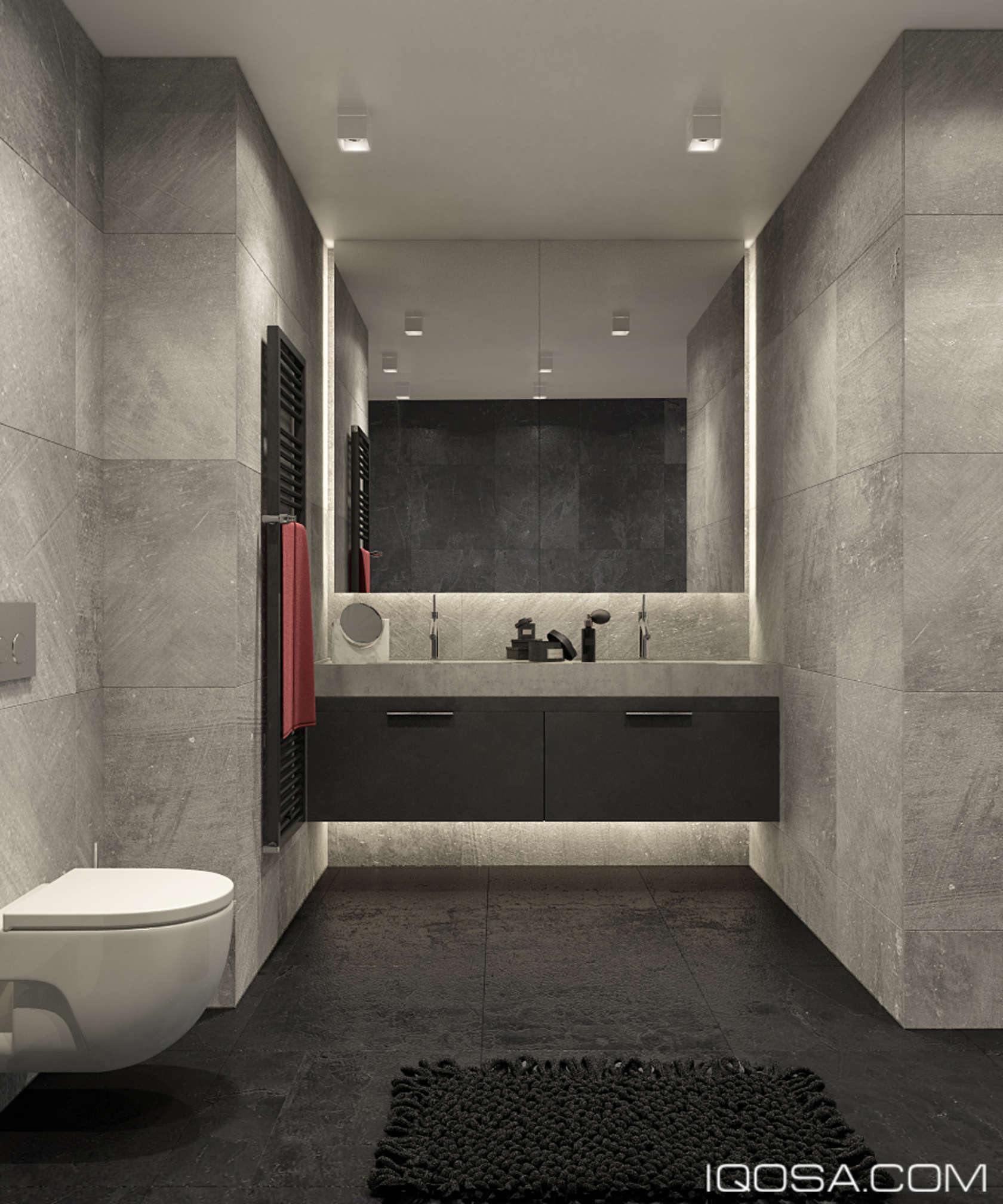 Luxury small studio apartment design combined modern and for Minimalist small bathroom design