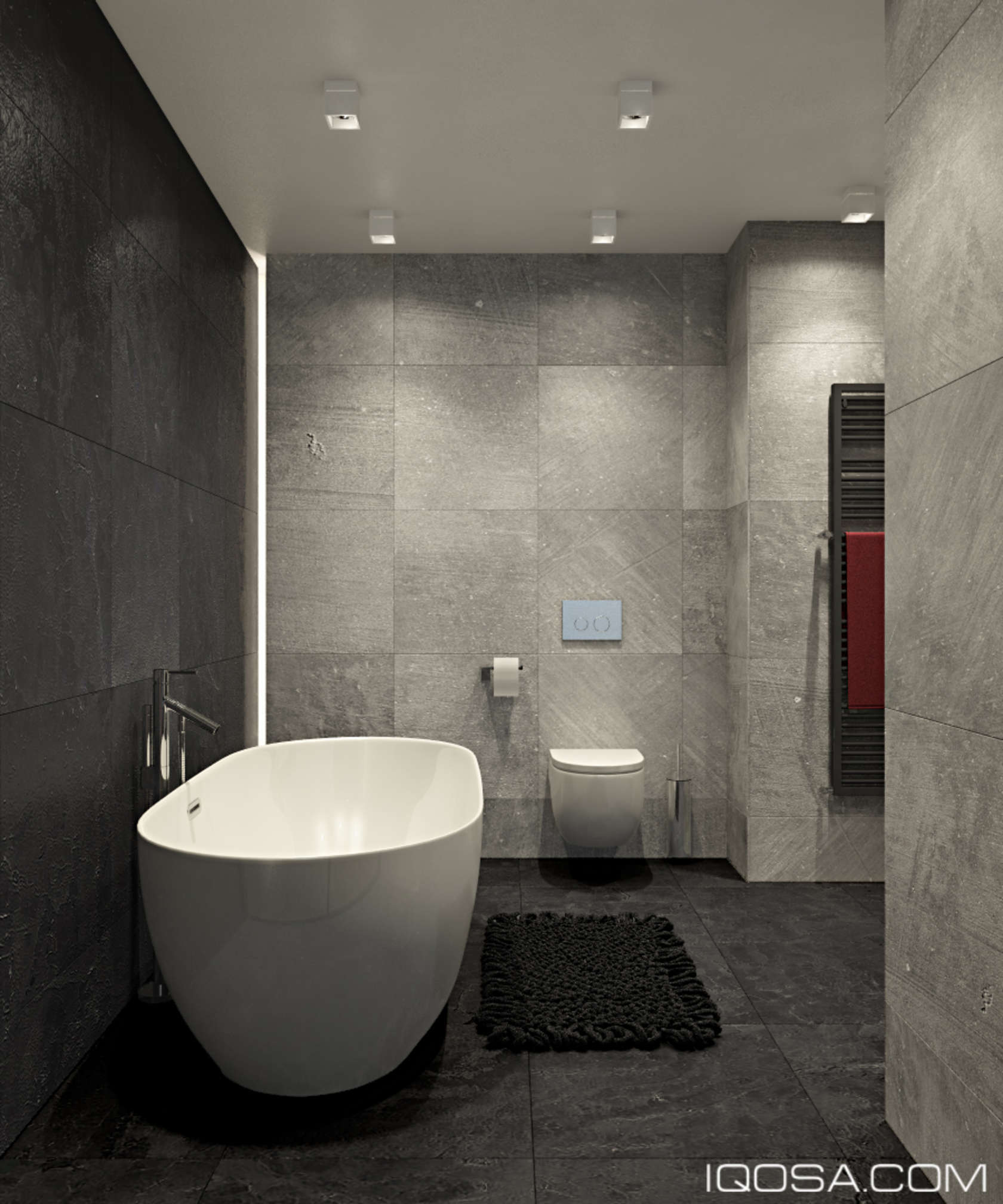 minimalist gray bathroom design
