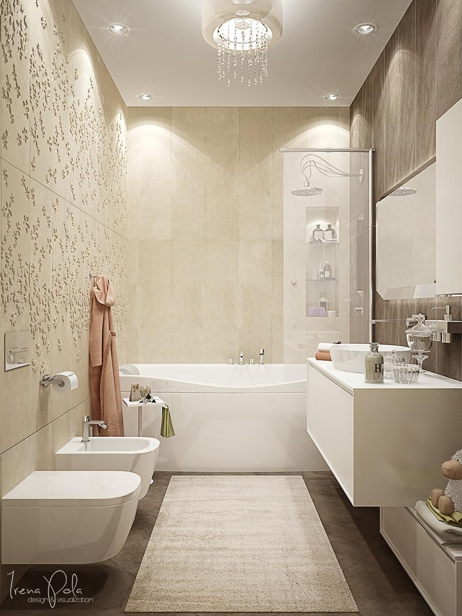 cream bathroom backsplash