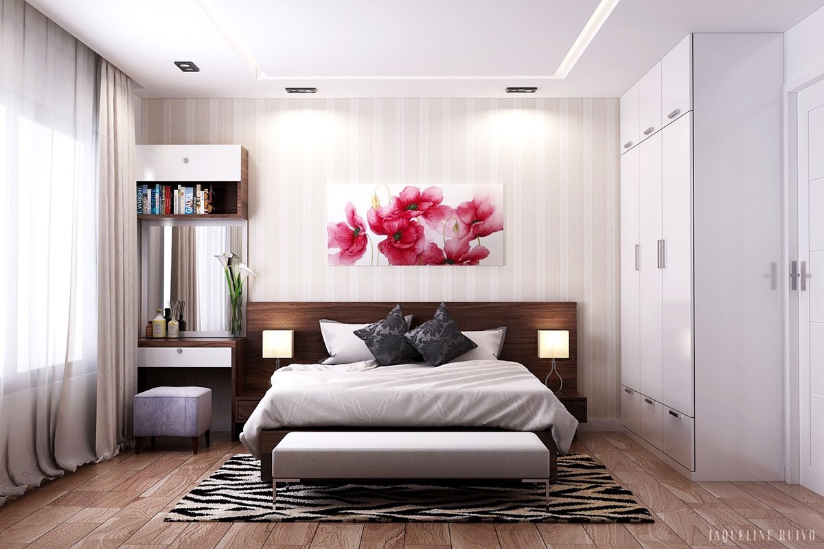 minimalist wooden bedroom design