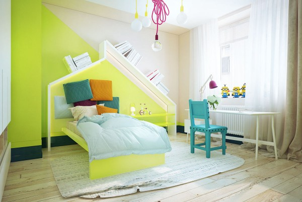 colorful kids room decor