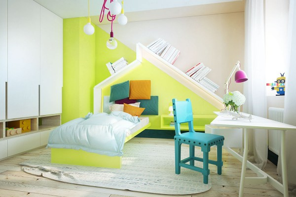 green kids room design