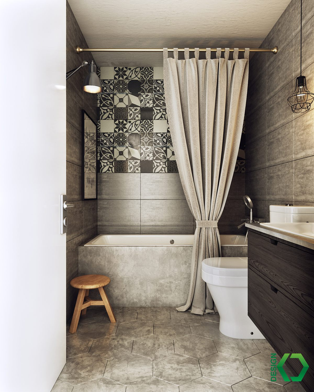 scandinavian small bathroom