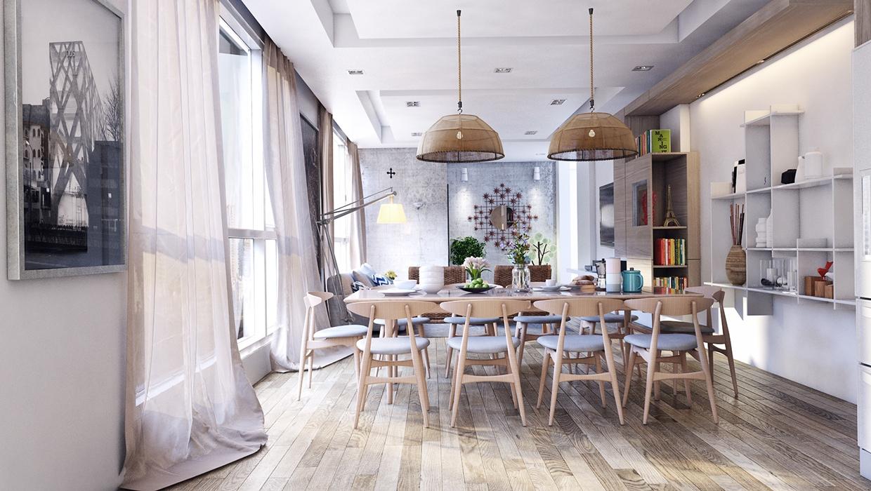 minimalist wooden decor