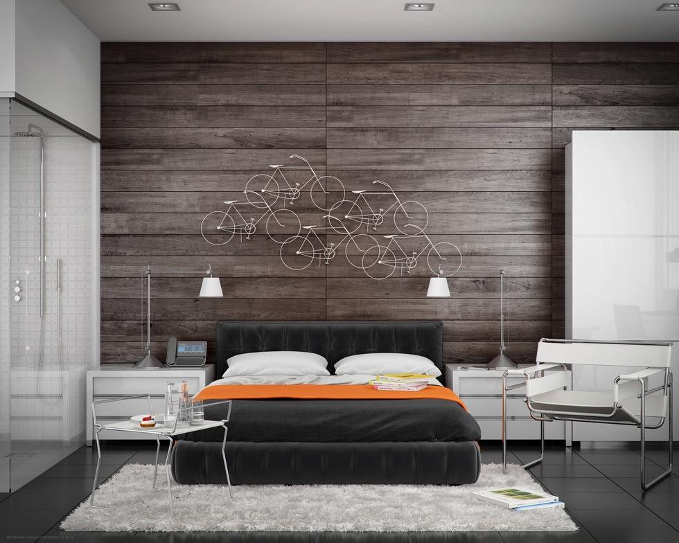 wooden bedroom design