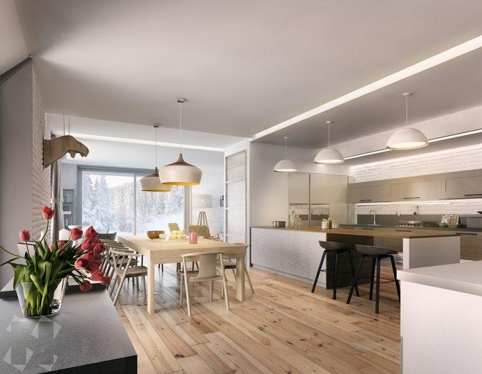 minimalist wooden kitchen