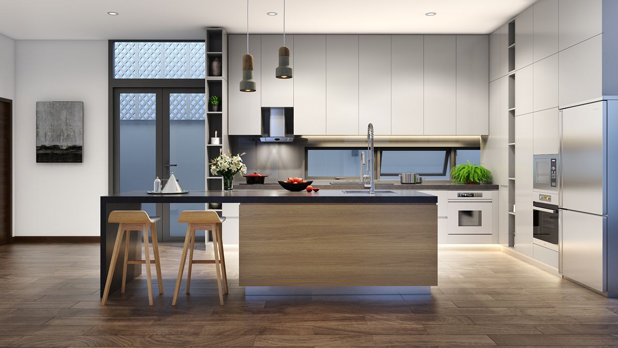 Variety of minimalist kitchen designs and the best tips for Design minimal