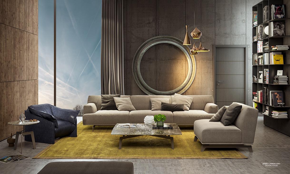 contemporary lving room design